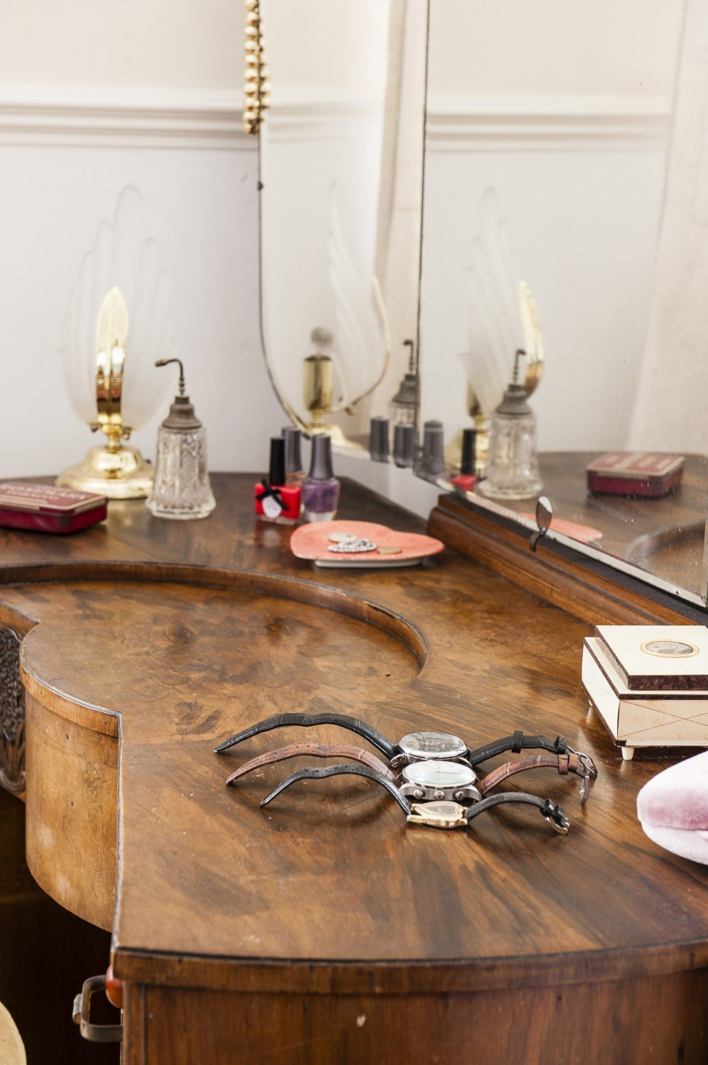 The Art Deco walnut dressing table is from Little Treasures in Hastings Old Town