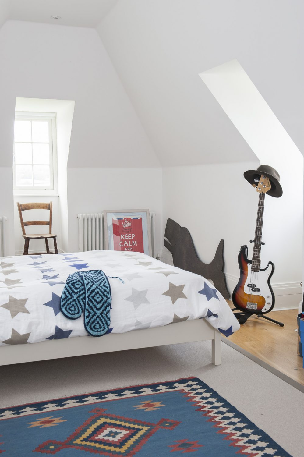 Rooflight windows mean that the children's attic rooms are anything but dark and dingy