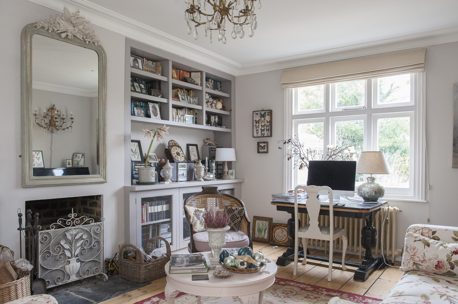 Emma's B&B guests can relax in her pretty drawing room which overlooks the gravel driveway and raised vegetable beds in the front garden. Pale decor and reflective, glittering treasures make the most of the light, which floods in from the kitchen though half-glazed sliding doors.