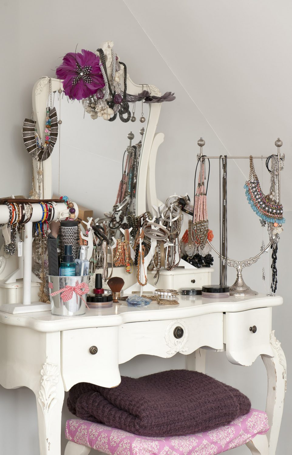 Sandra's dressing table in the guest bedroom