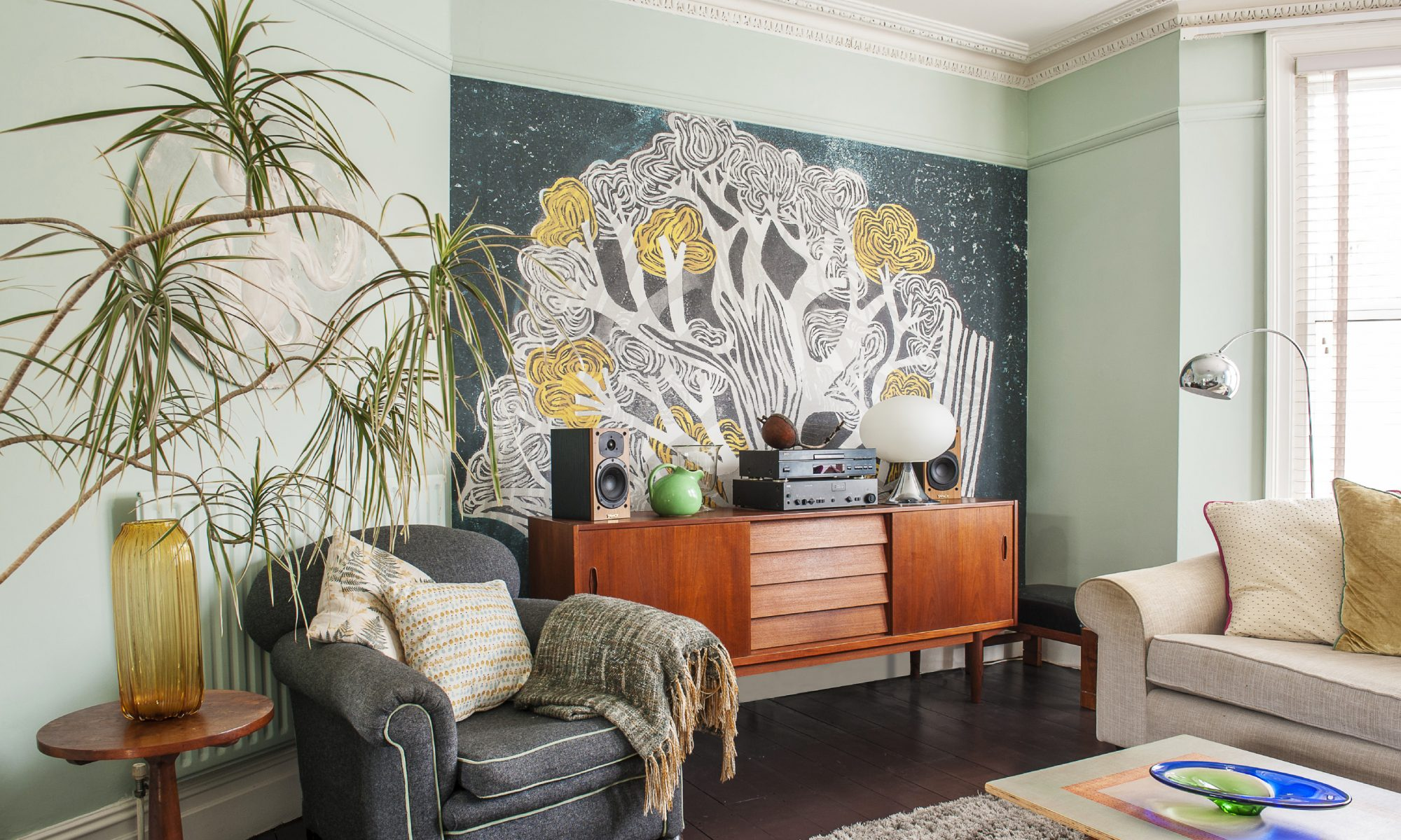 Ten years of DIY and the refined eye of a renowned wallpaper designer has transformed a wrecked house into an oasis of calm elegance