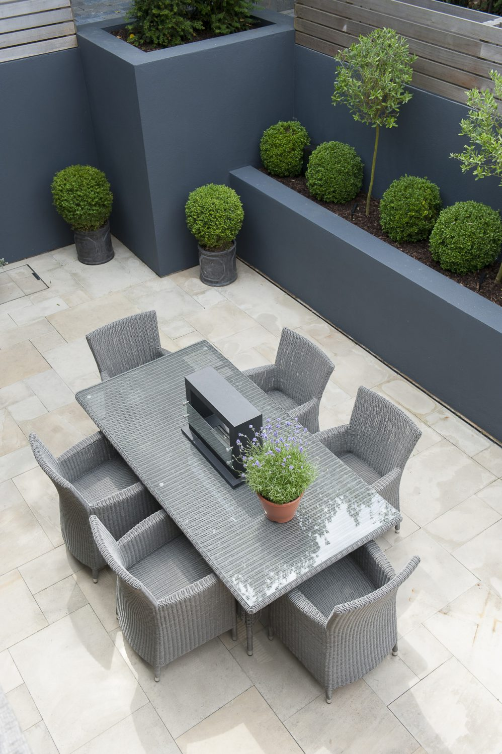 The outdoor dining space, perfect for entertaining
