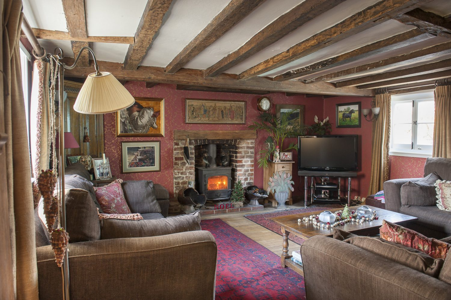 The snug was created as a room for the kids to watch television, while their parents enjoyed quieter time next door in the book room