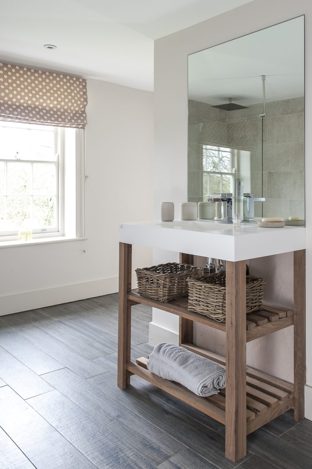 A modern en suite shower room adds a sense of hotel luxury to the spare room
