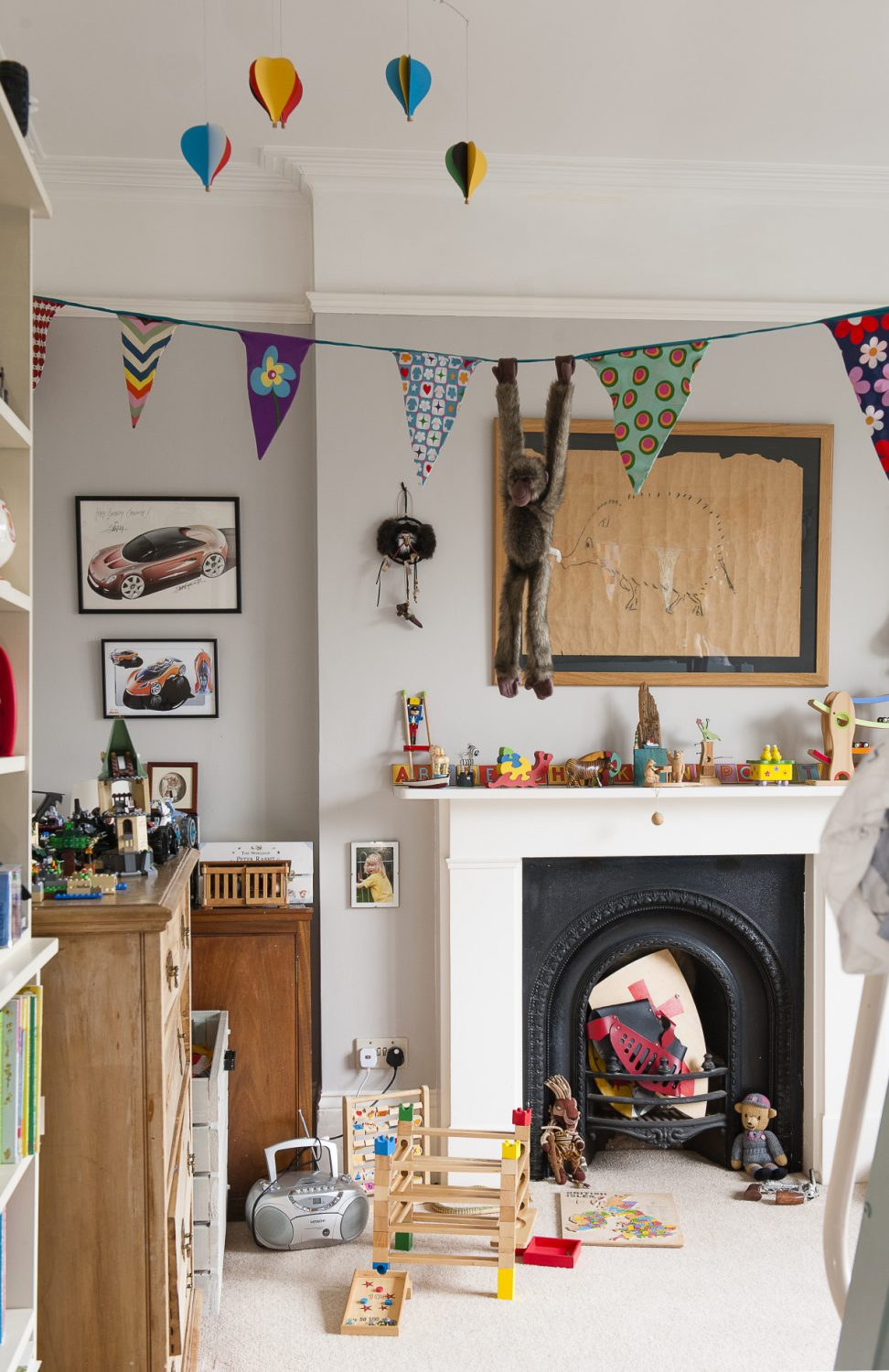 The couple's children's rooms were designed by them and reflect their personalities