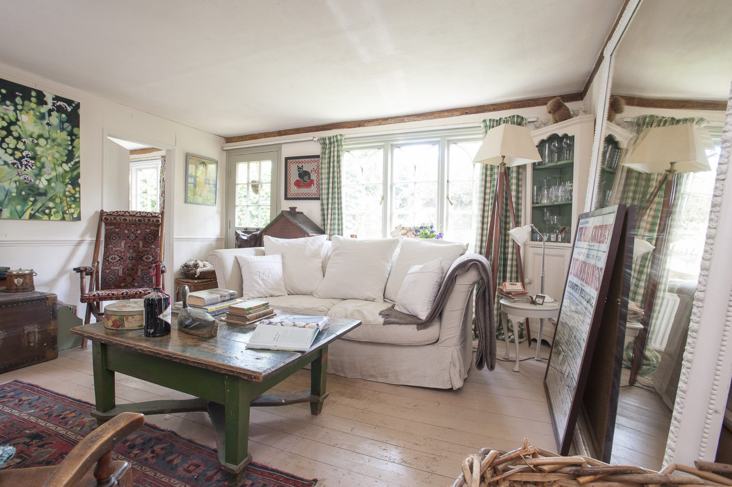 As the cottage is all on one level, the rooms are clustered closely together with the sitting room at the cente.