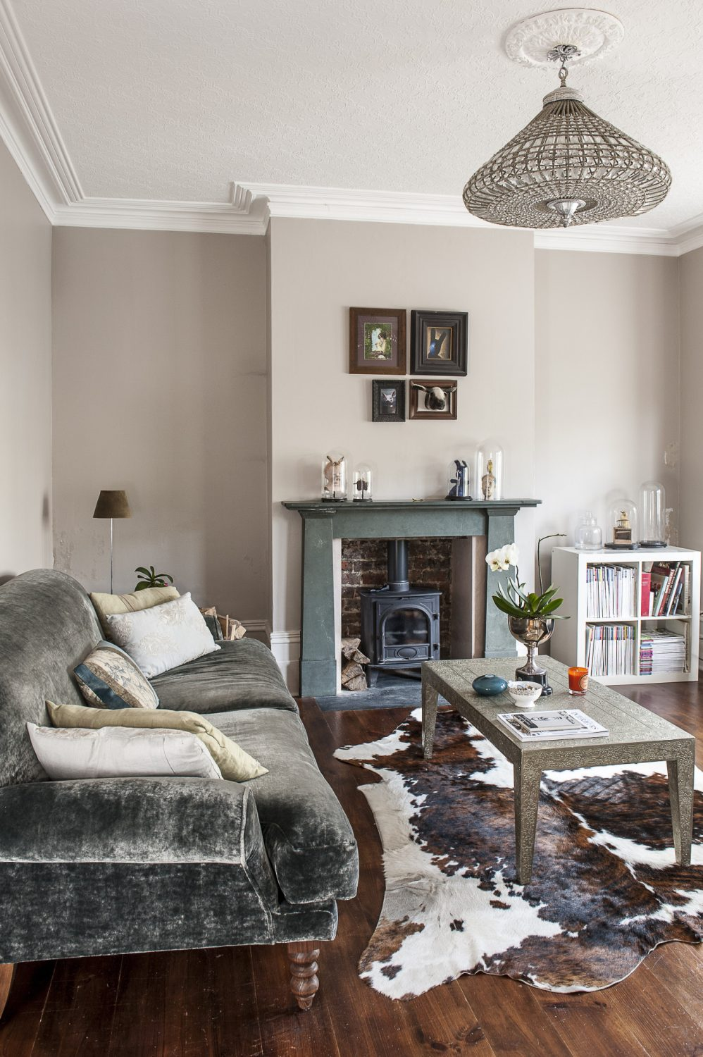 Grey is a predominant backdrop, blending into all the individual schemes within each room and seamlessly uniting the whole house together