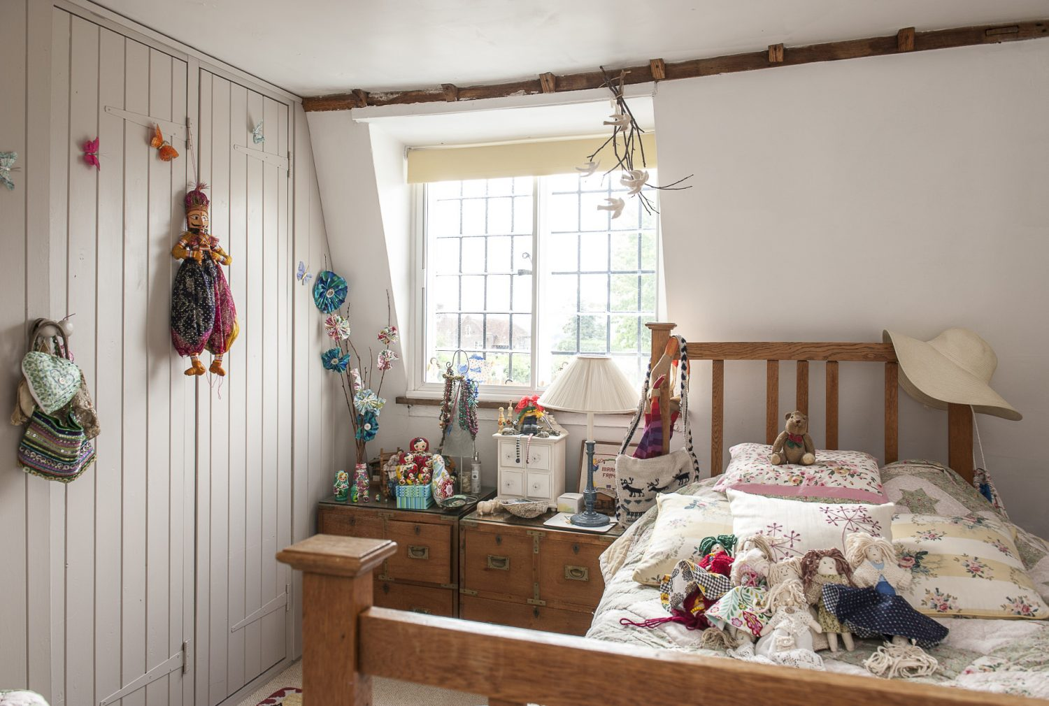 Suzanne and Tim's daughter's room is a sweet, light-filled space