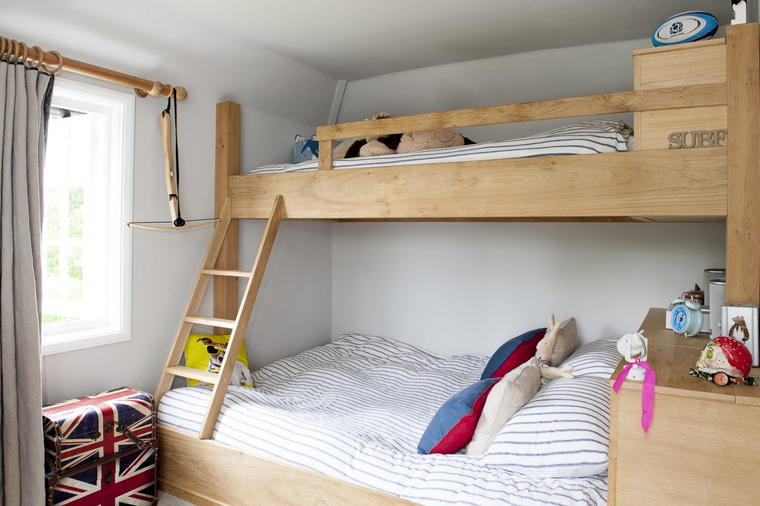 Greg Buchan has again woven his magic and created great chalet-style oak bunk beds