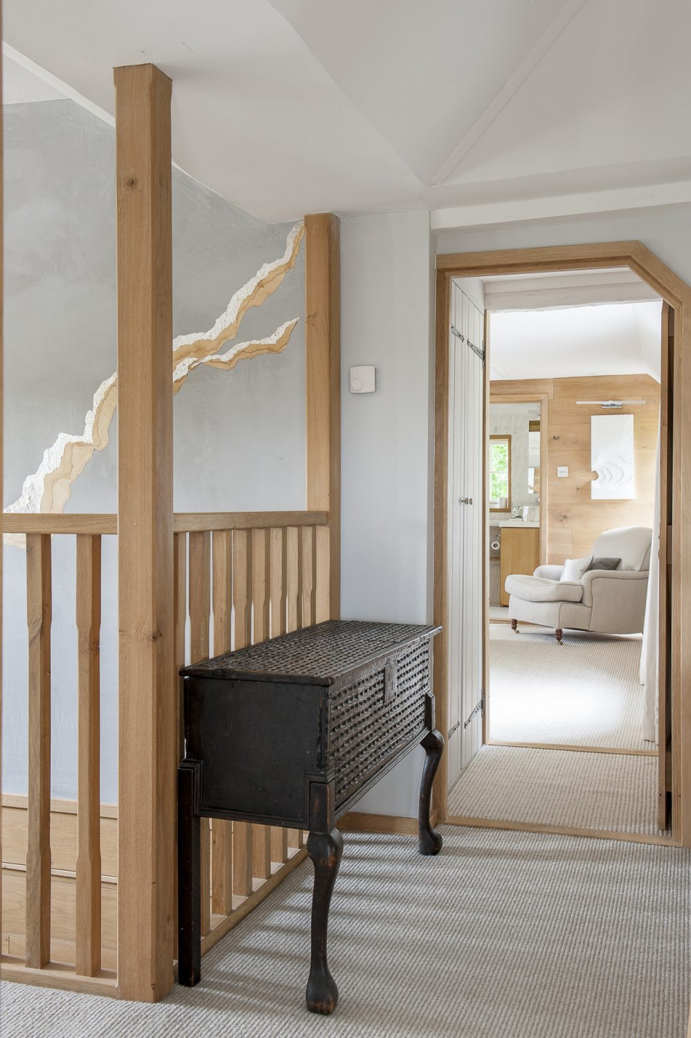 A view through to the master bedroom and en suite bathroom
