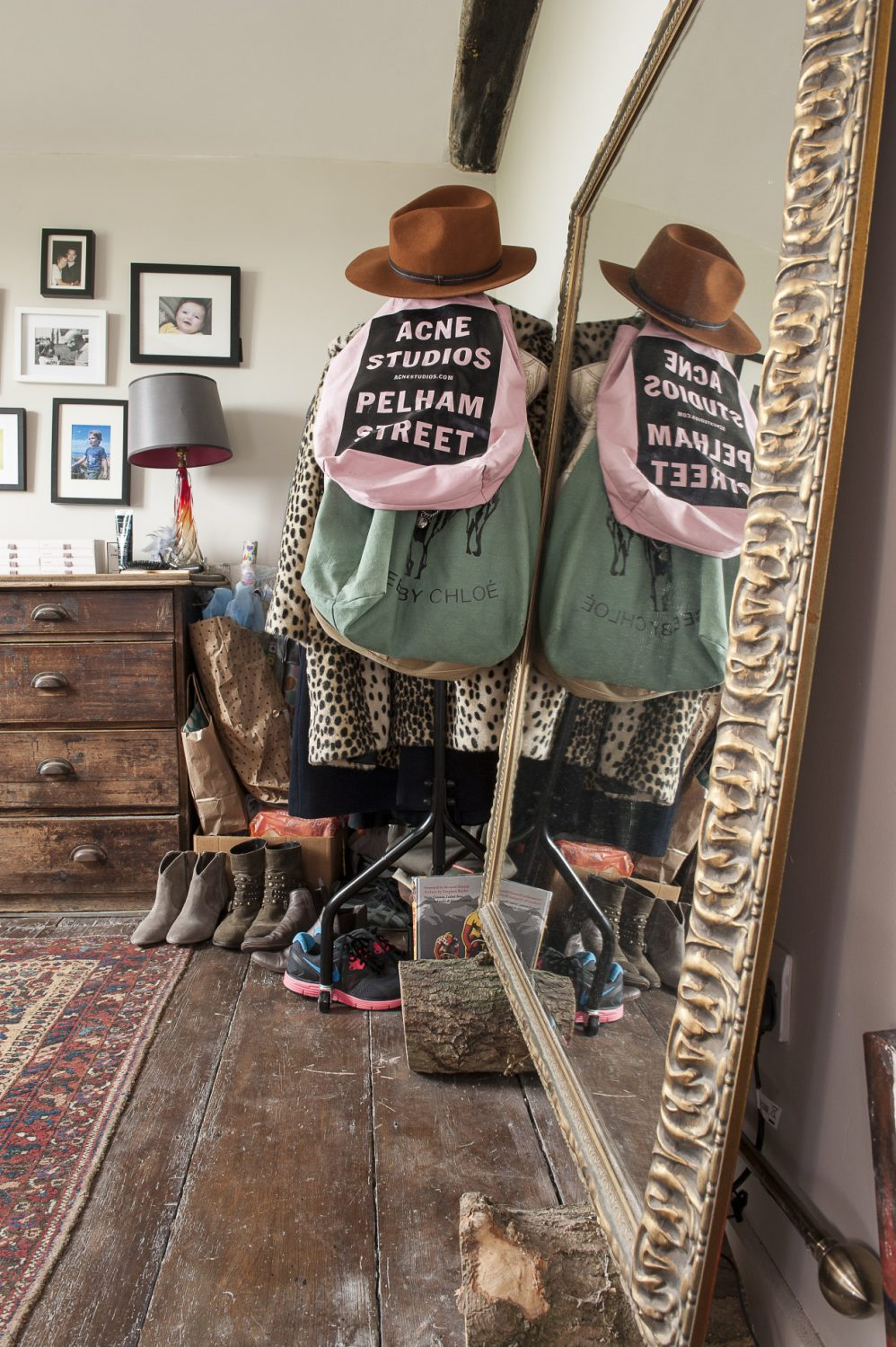 Sally and Rob use one of the upstairs rooms as a dressing room, leaving their bedroom uncluttered and wardrobe-free