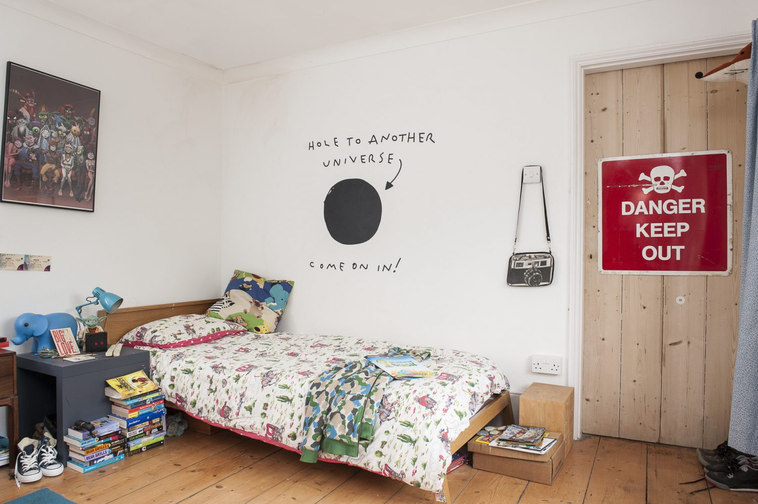 Zack and Aggy let their creativity run wild in their playfully styled bedrooms