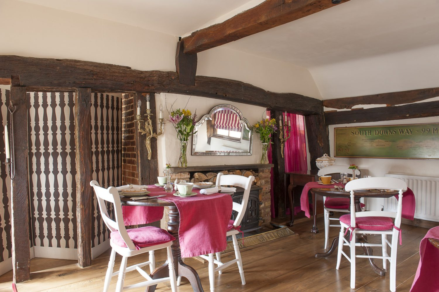 Matthew sources fresh, local ingredients to serve visitors in the cosy dining room during winter and on the open air patio in the summer months