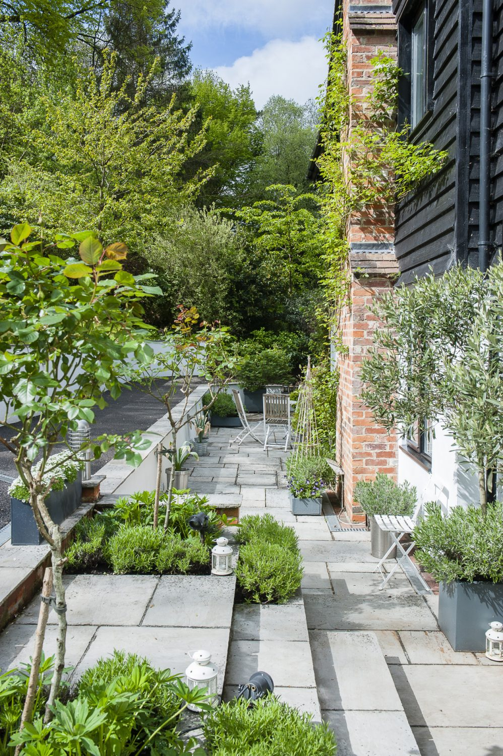 The garden would be a major project of its own and with much of the rear of the house glass, becoming not merely an exterior feature but an integral part of the interior living spaces