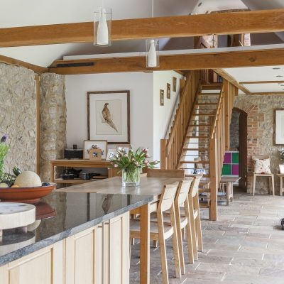 Vicky and James have converted a cluster of former farm buildings into a superb, eco-friendly 21st century family home that won them the Ashford Borough Council 2009 Design Award for Building Conservation...