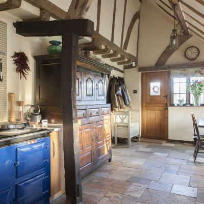 When Sarah and Dean made the decision to move to Kent from Hertfordshire, they agreed that they would only buy a house they both truly loved. When they found this 16th century Wealden farmhouse near Ulcombe, in need of restoration and decoration, they knew they'd found the one...