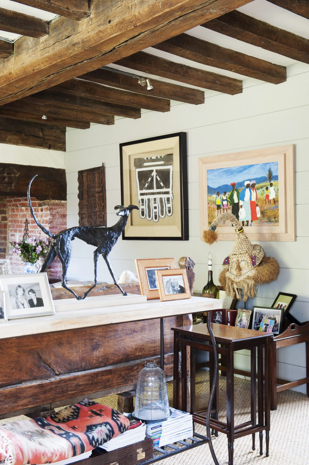 Reminders of Africa resound throughout the home