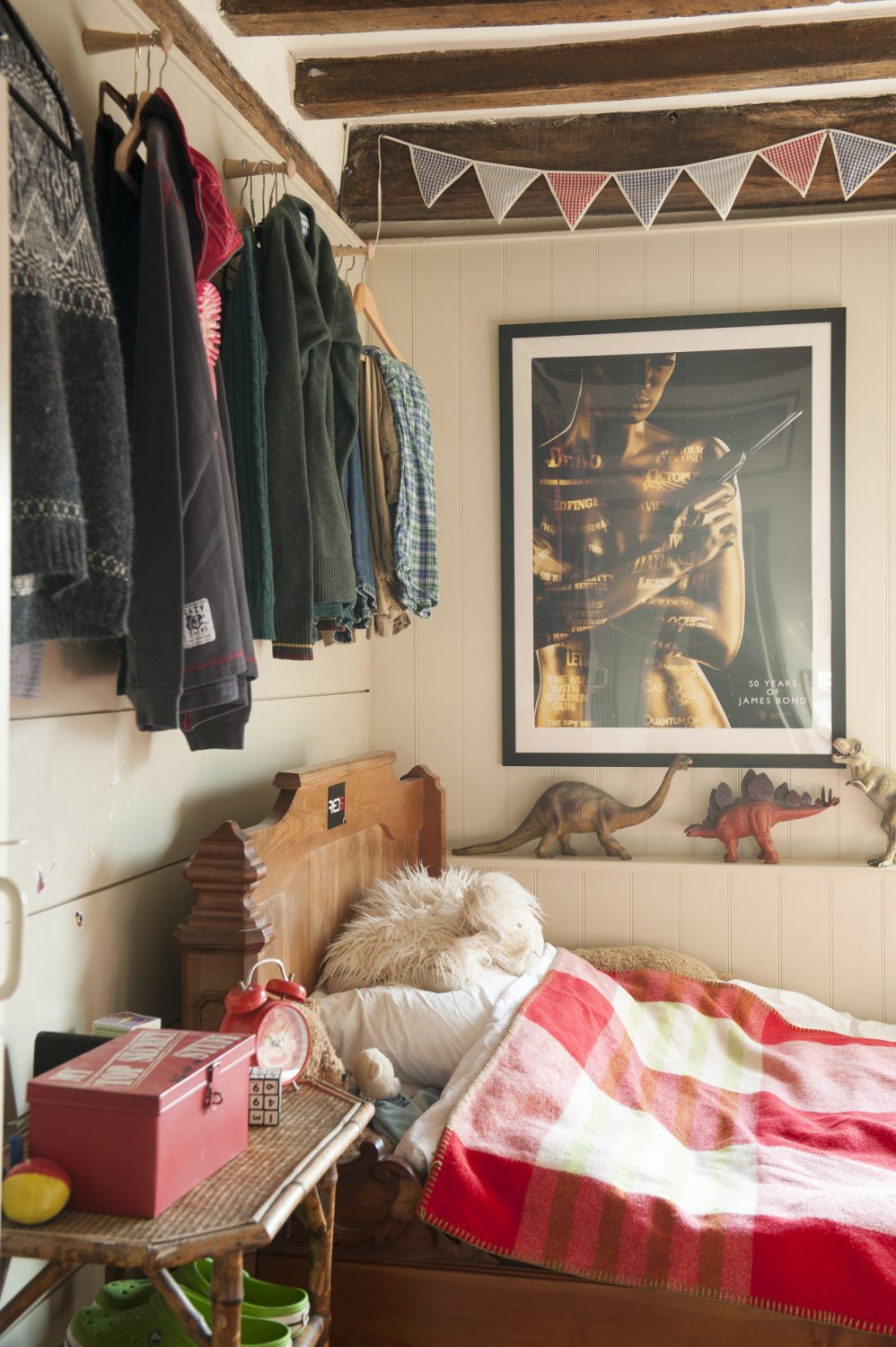 Ally has rationalised and organised each of her children's rooms with her own distinctive design techniques – including more chalet-style horizontal boards and clever storage spaces – while allowing the children's own taste and style to shine through