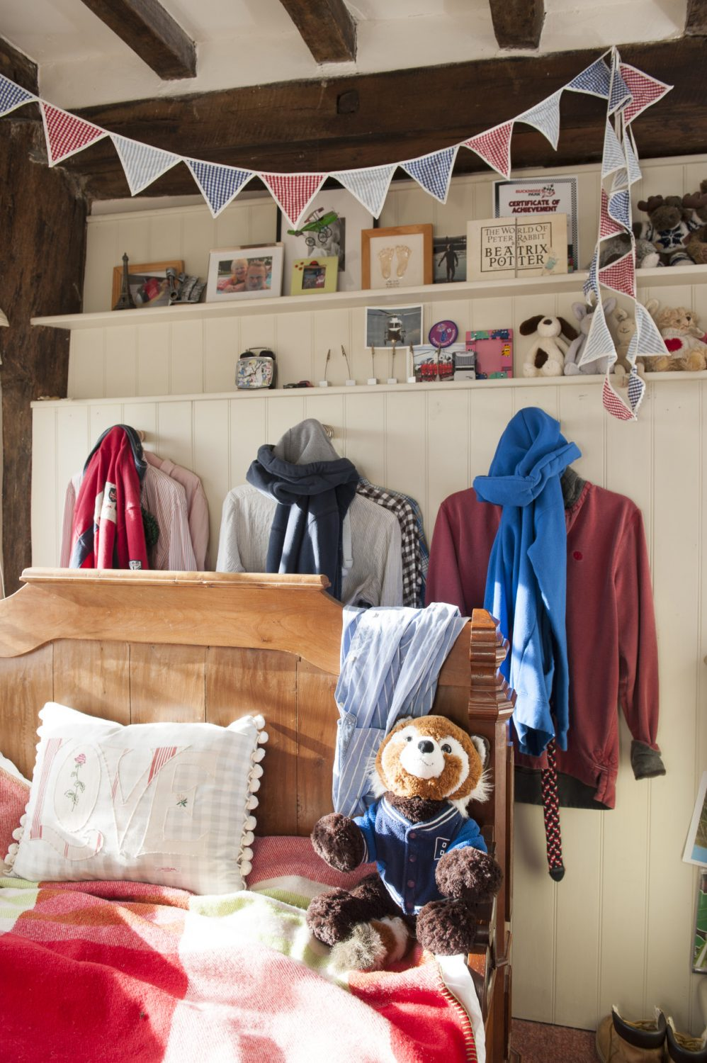 The kids' rooms are cosy and fun
