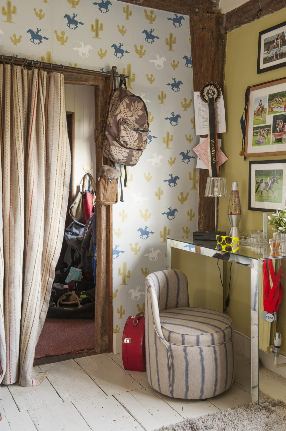 Tabby's room celebrates her love of horse riding