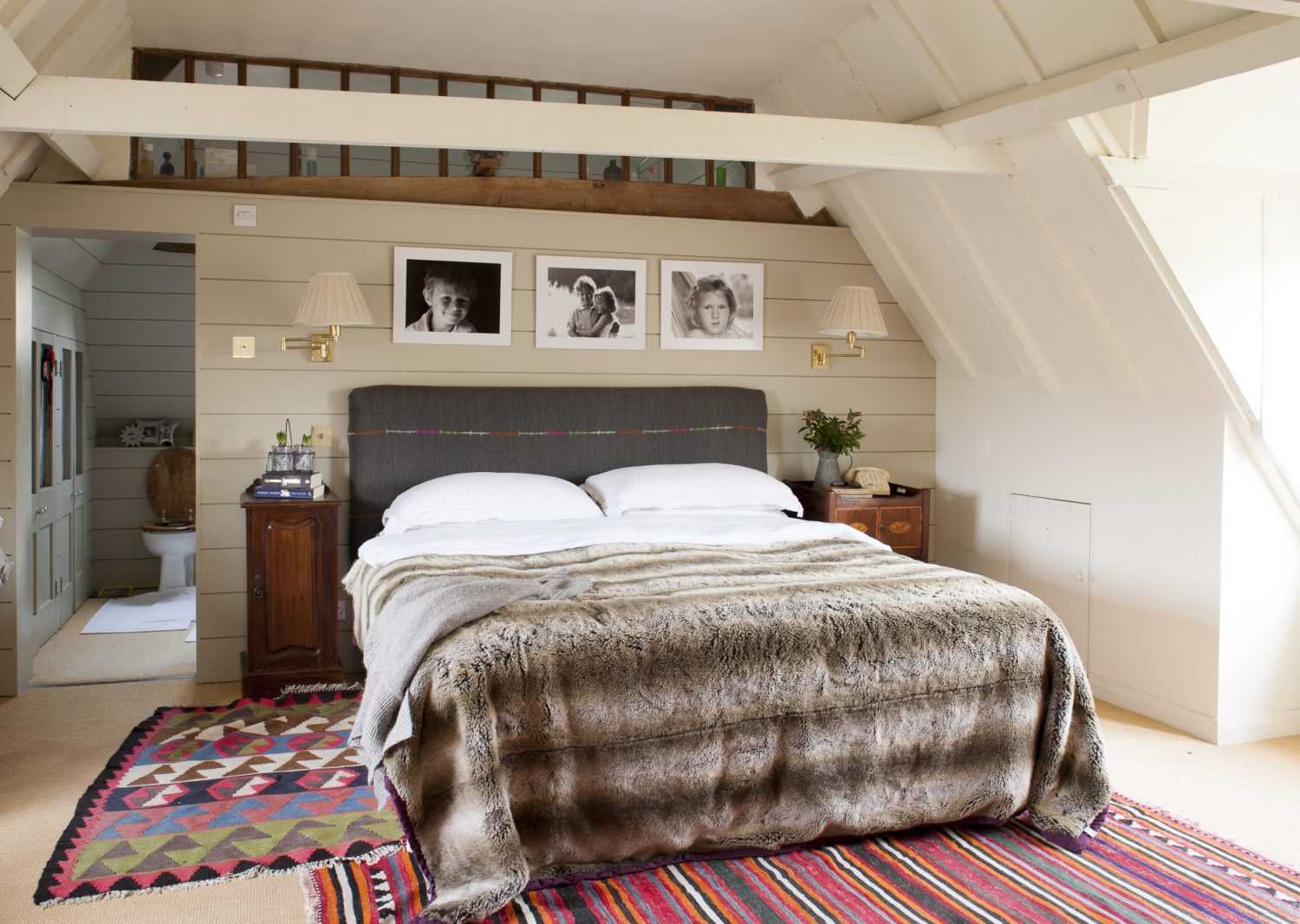 The master 'suite' on the top floor comprises master bedroom with en suite, and dressing room