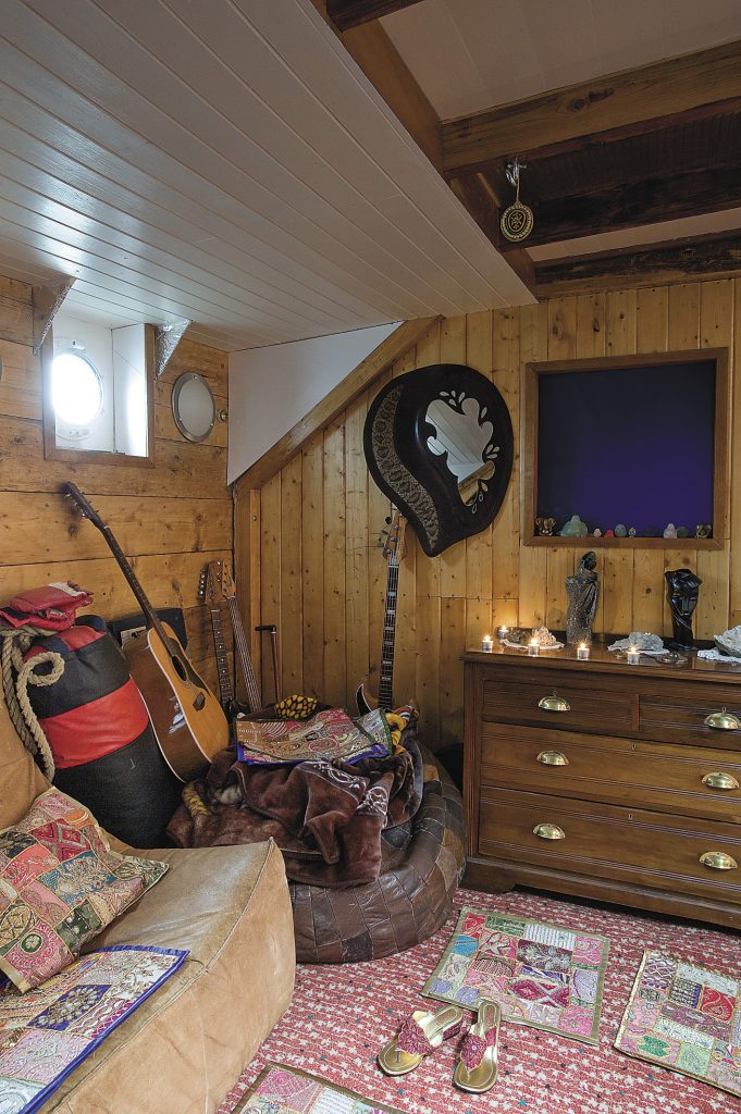 the family use the snug as a sitting room during the dark days of winter