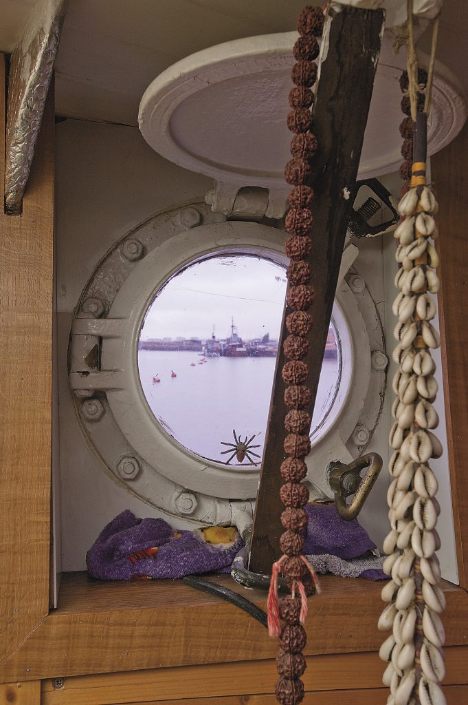 view over the Medway from a porthole