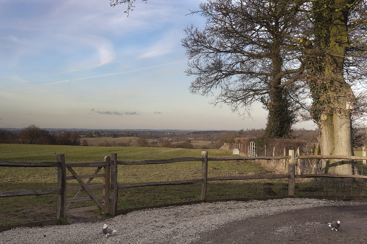 the property enjoys beautiful views over the South and North Downs
