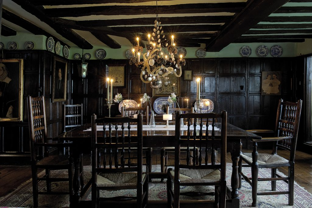 Off the drawing room is the panelled dining room, centrepiece of which is a wonderful 1720 oak dining table. Louisa can be so certain of the date because it was originally commissioned for New Romney Town Hall as a Judge's Table when the area was granted permission to try – and execute – smugglers