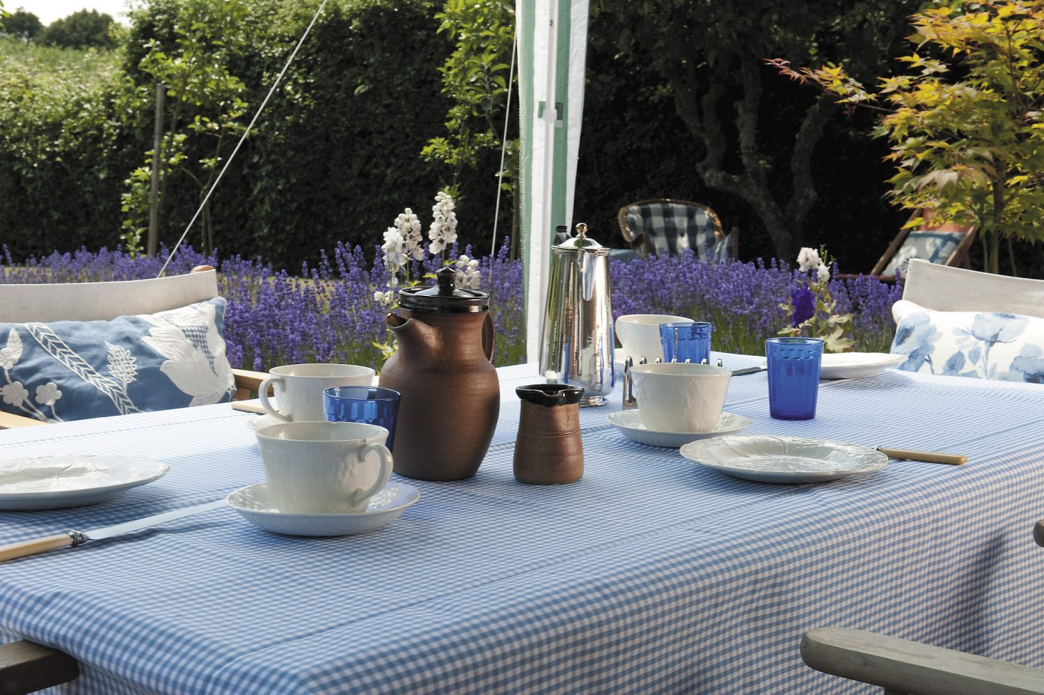 Sarnia and Jeannie's garden makes for a delightful setting for dining al fresco