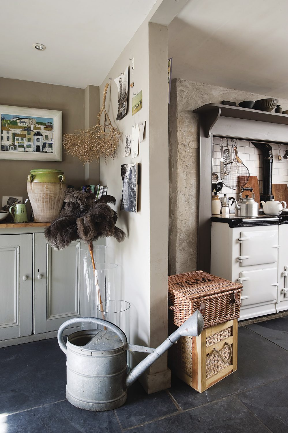 An Aga was installed to warm things up