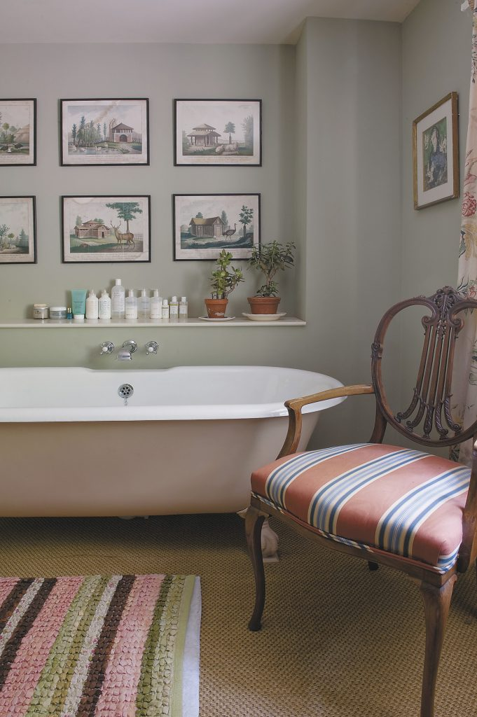 the calming and relaxing guest bathroom emulates the spa-touch of the bathrooms at The George in Rye