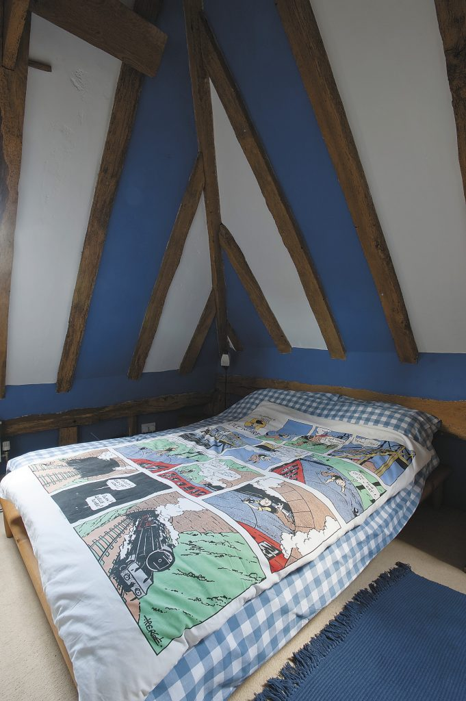 the Tintin duvet cover was discovered in Heals