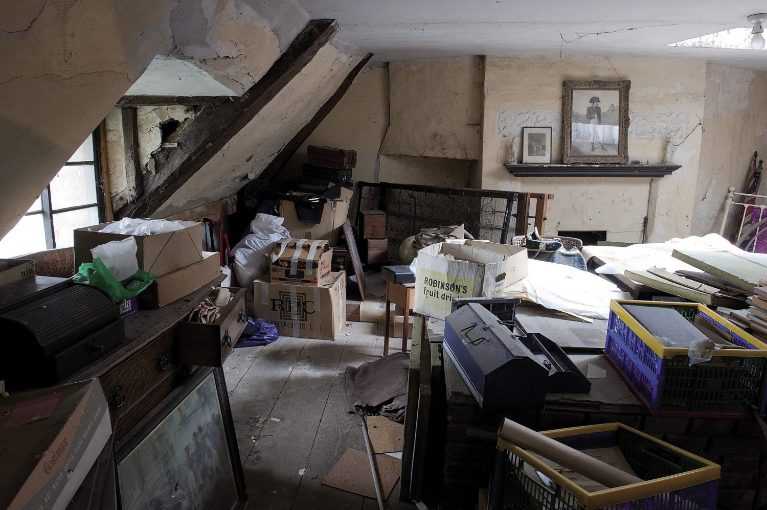 """My family, present and past, are disinclined to throw anything away. If you live in a house as large as Hancox, there's no pressing need to dispose of stuff, so it just silts up,"" says Charlotte"
