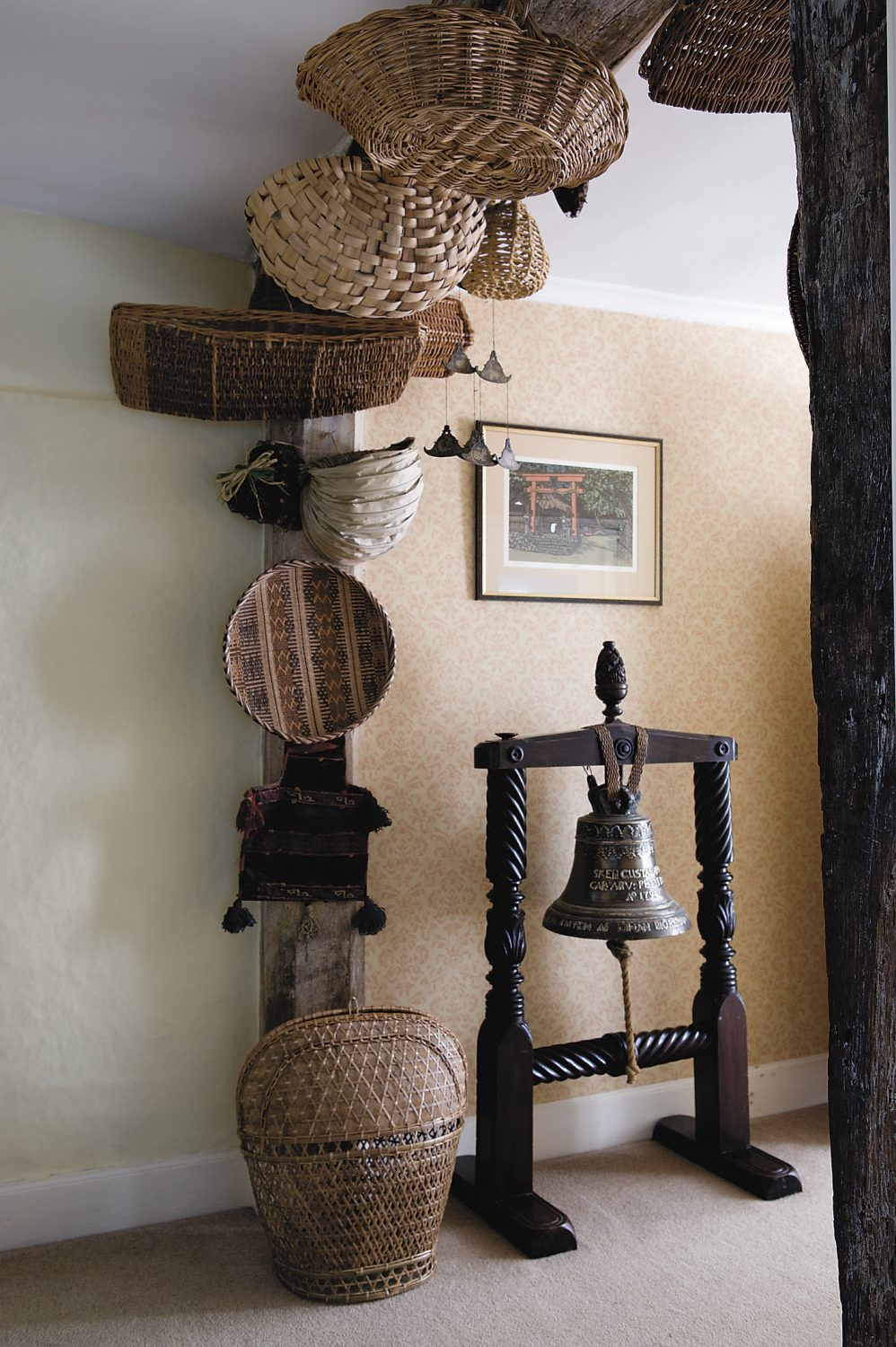 Jemima's collection of baskets from around the world