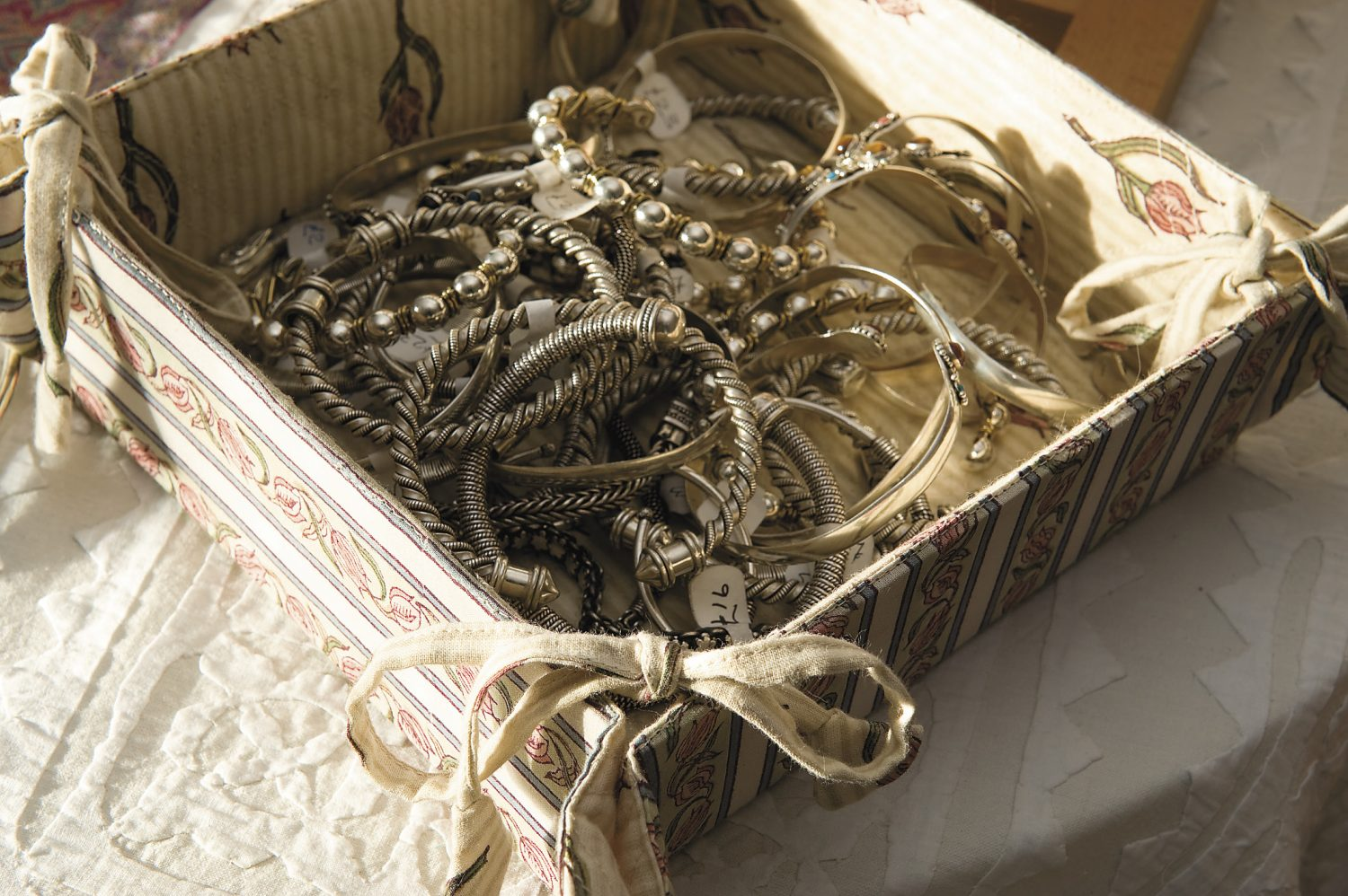 jewellery, made from silver and semi-precious stones, was sourced by Jemima on a buying trip to India