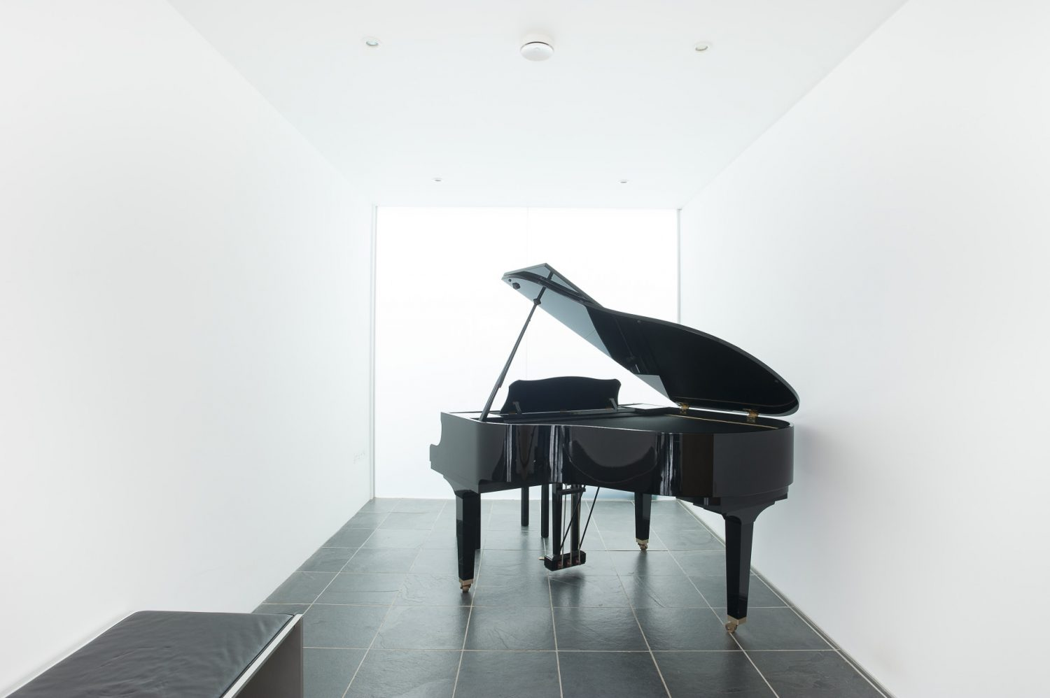 Heather's music room is home to her Yamaha digital grand piano