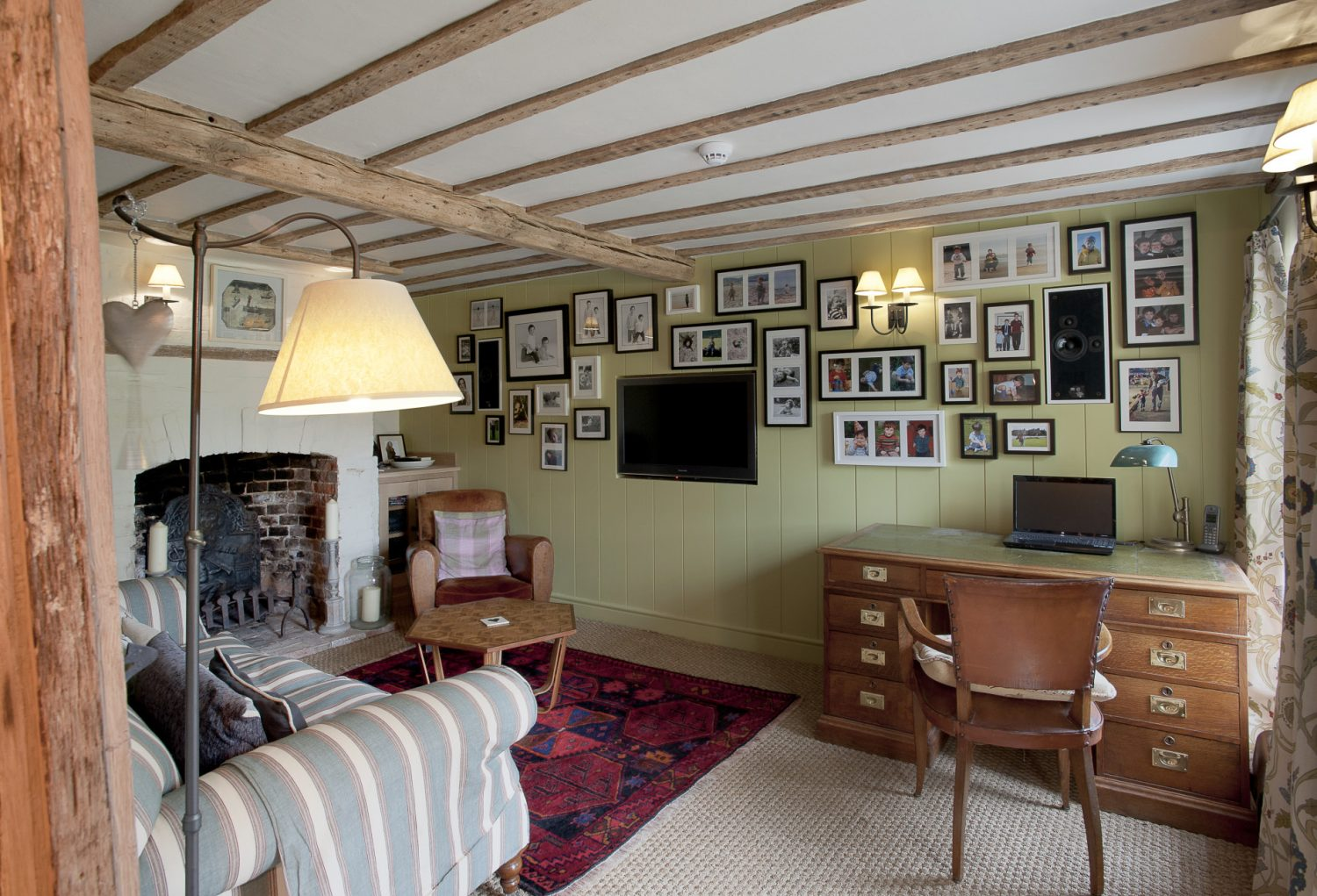 Richard's study doubles as the family den!