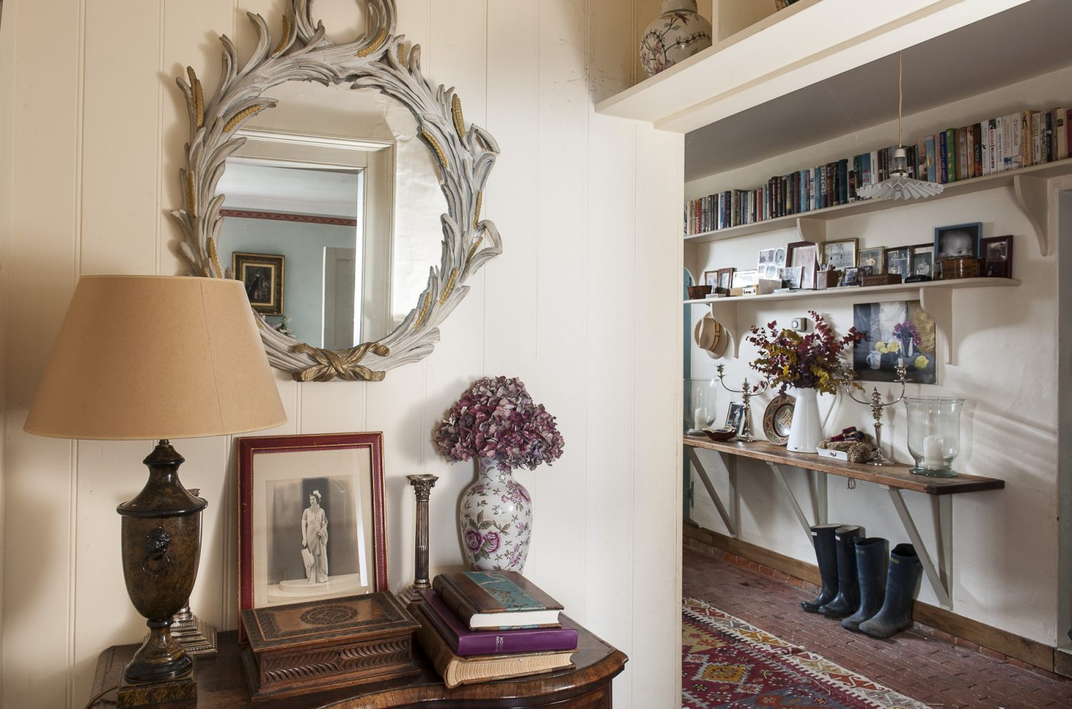 The delightful entrance hall