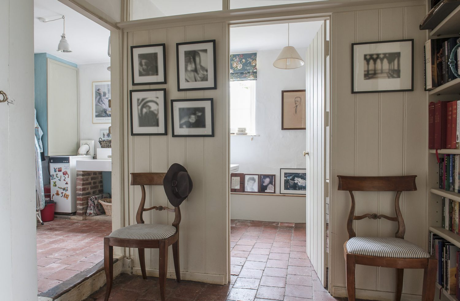 """A door leads off the hallway into the downstairs loo and utility room. In most houses, the utility room is an afterthought, if a thought at all, but Francesca's is a little haven. """"I seem to spend so much time in here, I wanted it to be a pleasant space to work in,"""" she says"""