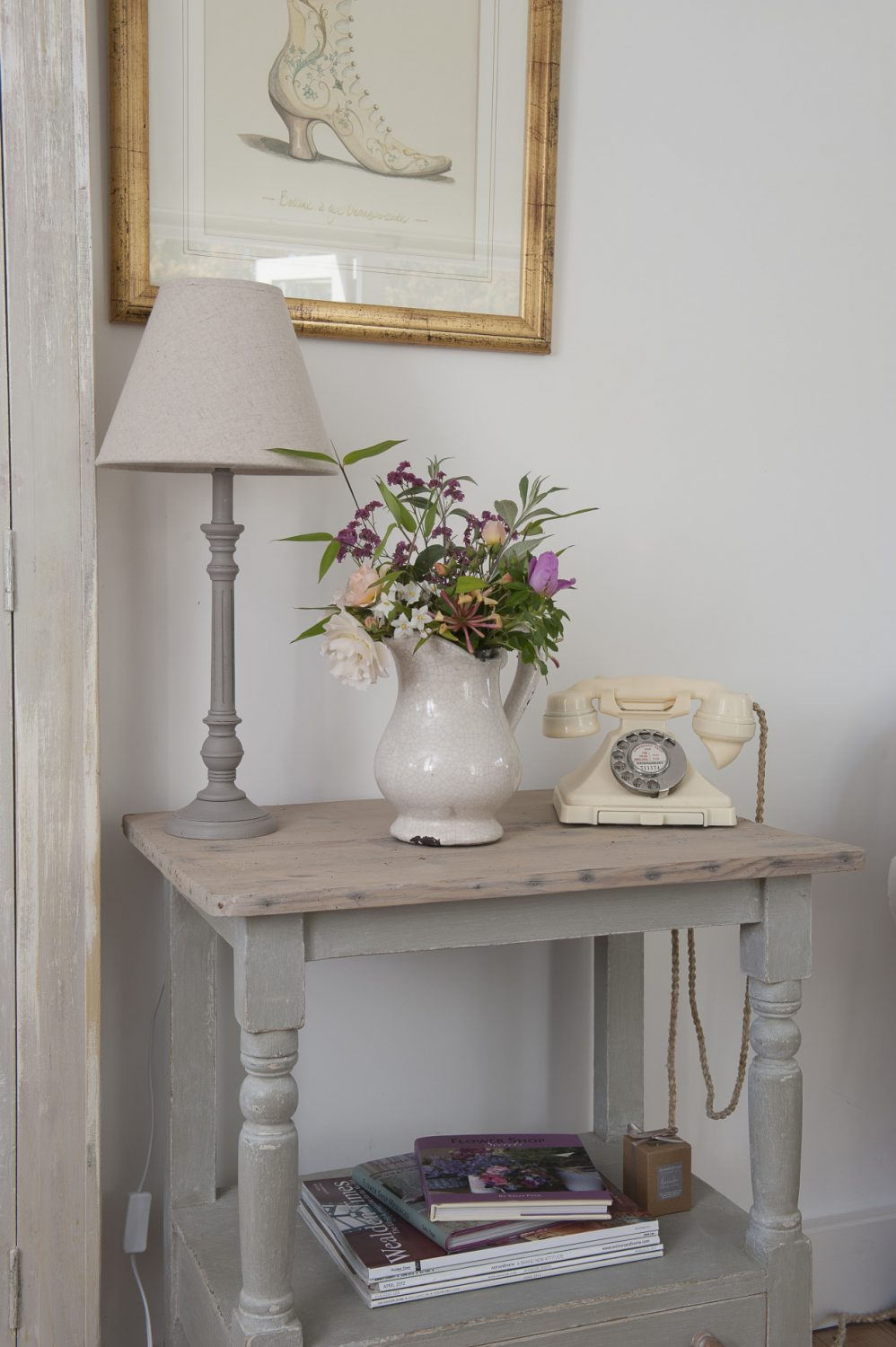 Farrow & Ball's 'All White', used throughout the house, cleverly provides subtle variations of shade depending on the quality of the light and the angle it strikes wall or ceiling