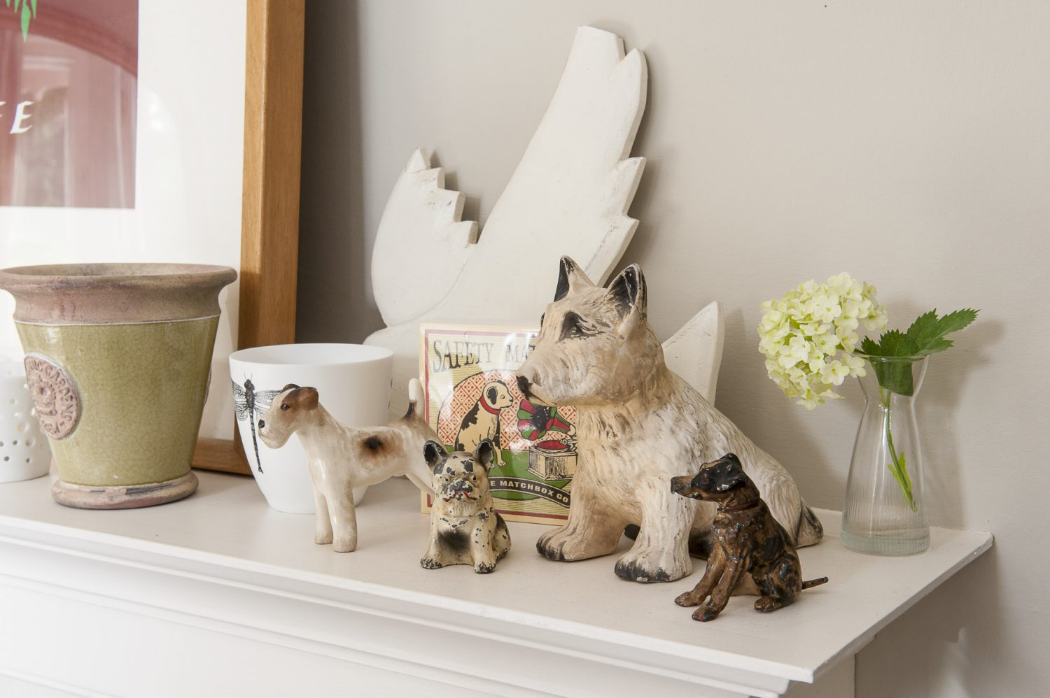 Diana has recently started a collection of ceramic dogs