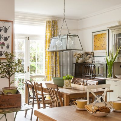 Diana removed a wall in the kitchen to create a bright and welcoming kitchen/dining room