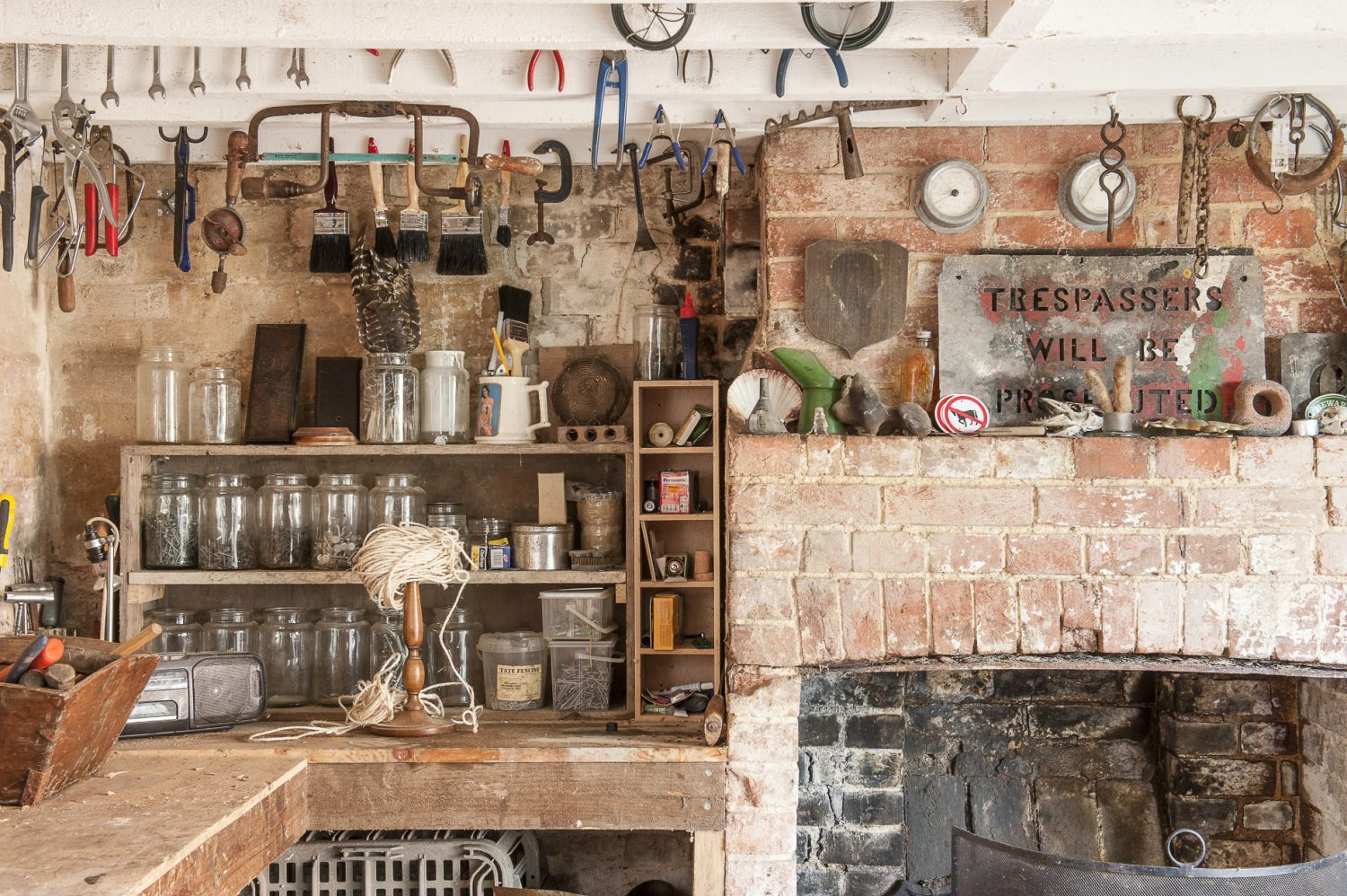 Nick's outbuilding is crammed with vintage tools