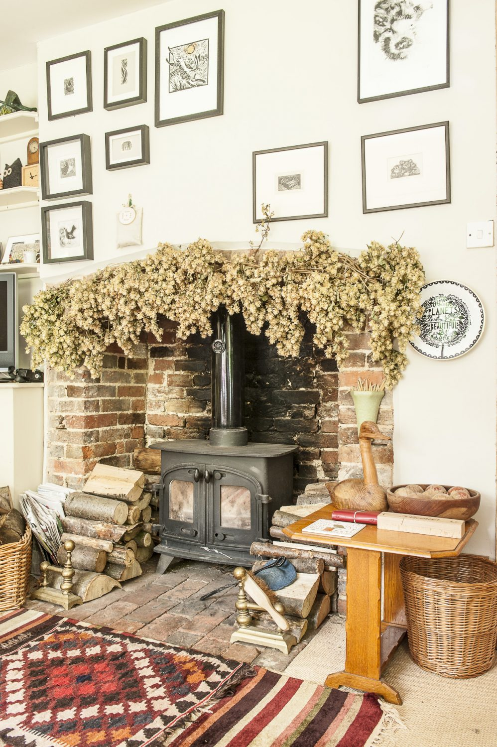Due to the fact the house has no central heating, the previous owners had installed a wood burner in the sitting room