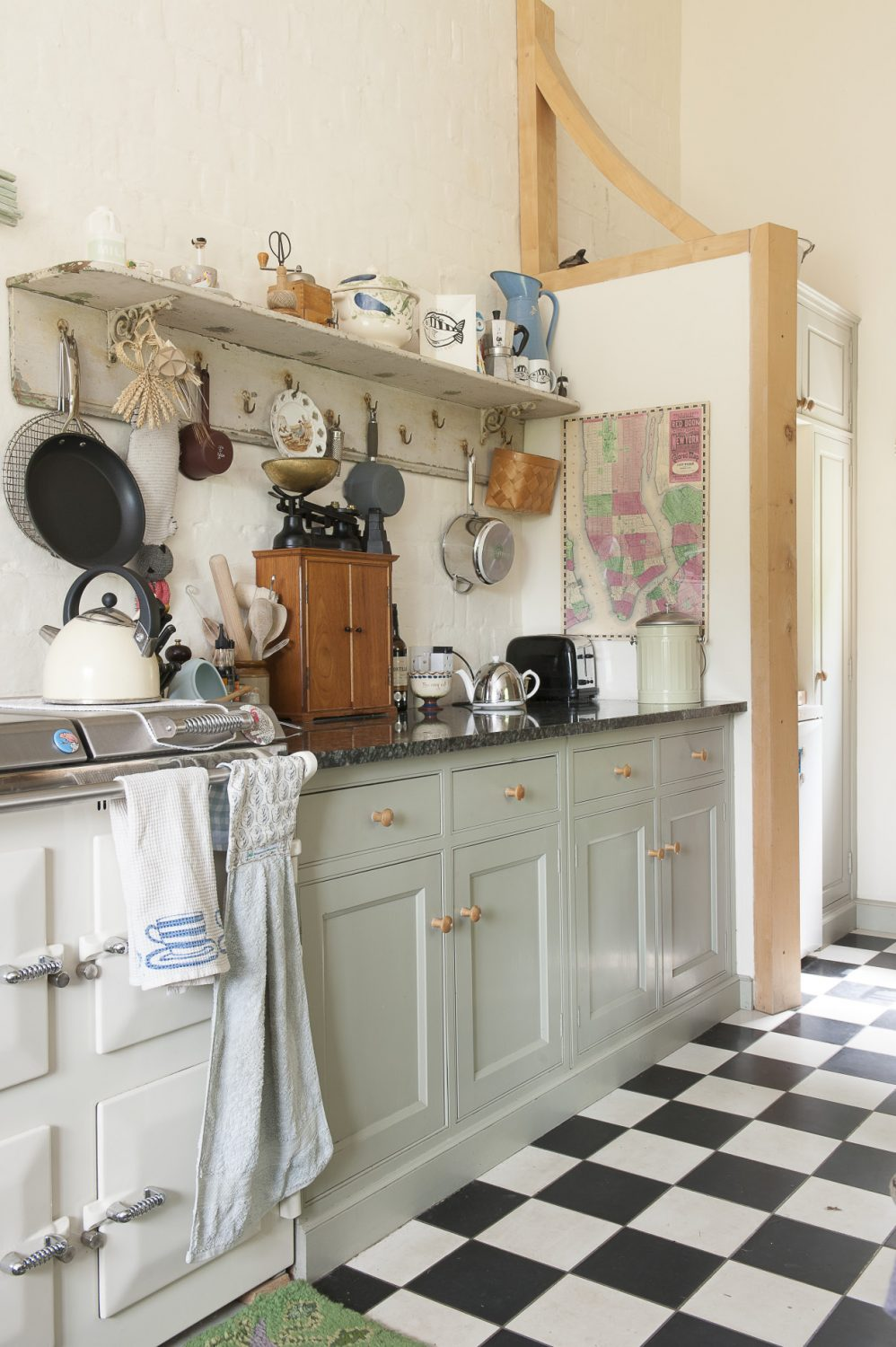 """""""There was a lovely big old model C Aga in the kitchen – an original dating back to the 1930s – but it was hugely inefficient so we really had to replace it. We opted for a more economical range, but it doesn't give off any heat,"""""""