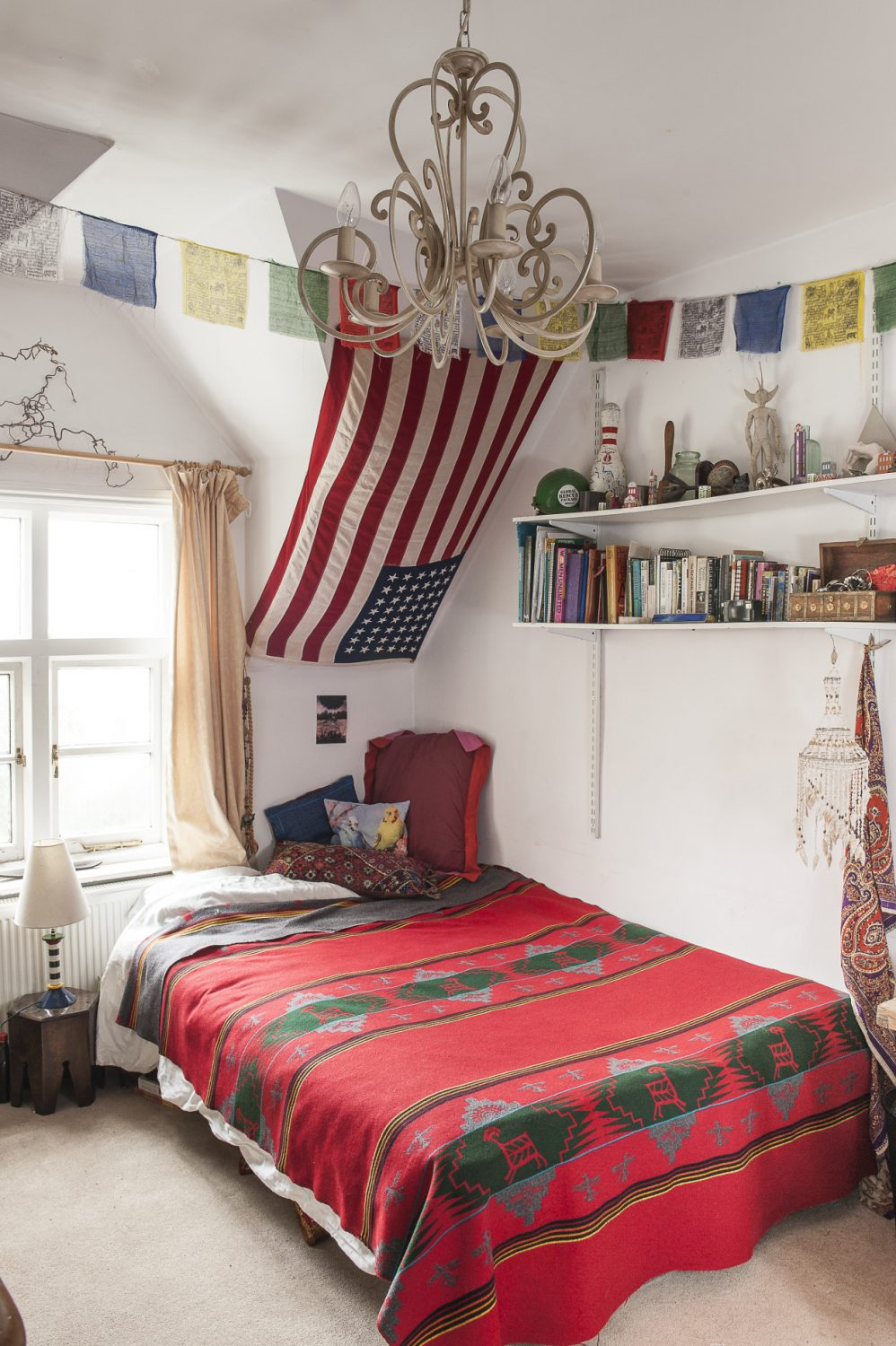 Alli's 23-year-old stepdaughter Hannah has been responsible for the décor in her own room which reflects her love of ethnic fabrics, art and curios