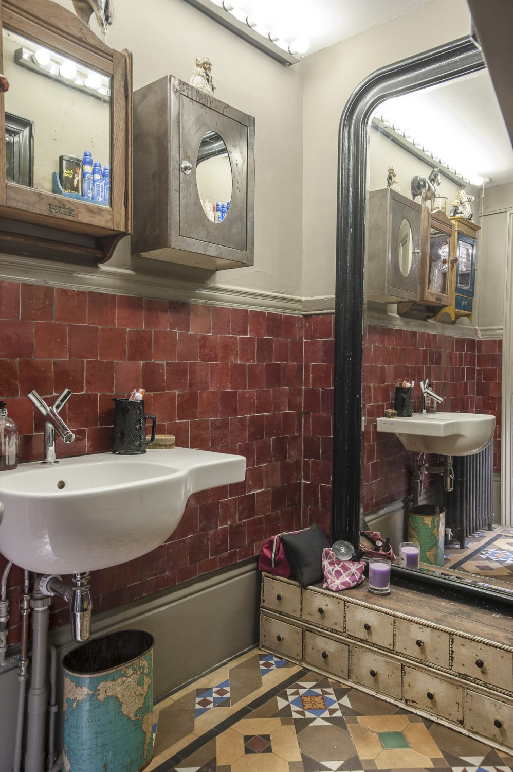 The couple fashioned the bathroom from a former utility room