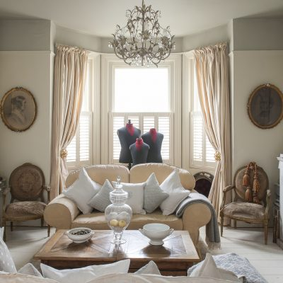 The drawing room is divided into cool elegant formal and cool elegant casual and is her main show room