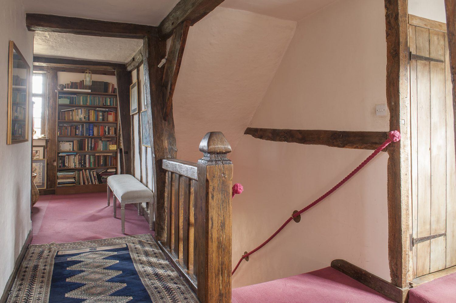 """Jane and Peter found the bannister post outside. """"It was obviously an old gate post, we found it in the garden and linked it up with the beams."""""""